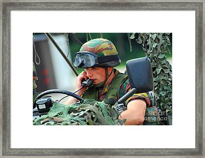 The Driver Of A Mortar Section Framed Print by Luc De Jaeger