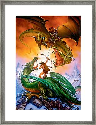 The Duel Framed Print by The Dragon Chronicles