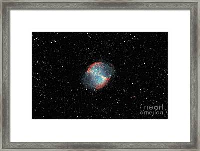 The Dumbbell Nebula Framed Print by Rolf Geissinger