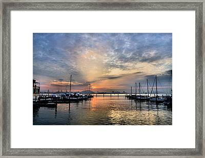 the EAST is RED Framed Print by KH Lee