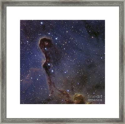 The Elephants Trunk Nebula In The Star Framed Print by Ken Crawford