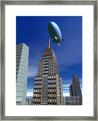 The Empire Revisited Framed Print by Walter Oliver Neal