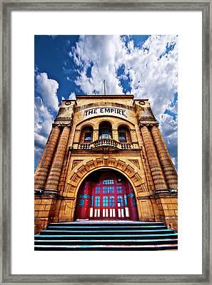 The Empire Theatre Framed Print by Meirion Matthias