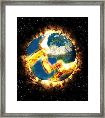 The End Of The World Framed Print by Roger Harris
