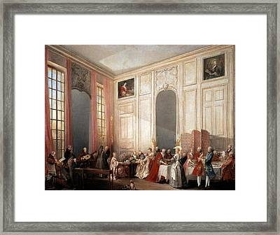 The English Tea In The Salon With Four Mirrors Painting Framed Print by Photos.com