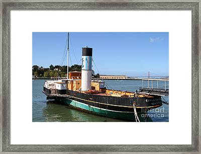 The Eppleton Hall . A 1914 Steam Sidewheeler Tug Boat At The Hyde Street Pier In Sf . 7d14123 Framed Print by Wingsdomain Art and Photography