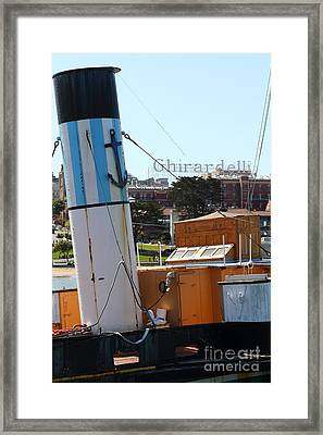 The Eppleton Hall . A 1914 Steam Sidewheeler Tug Boat At The Hyde Street Pier In Sf . 7d14167 Framed Print by Wingsdomain Art and Photography