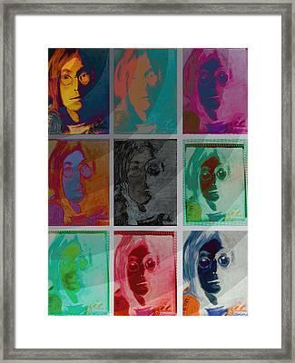 The Essence Of Light V2- John Lennon Framed Print by Jimi Bush