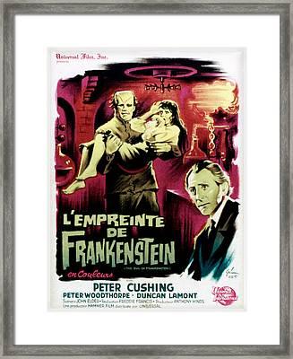 The Evil Of Frankenstein Aka Lempreinte Framed Print by Everett