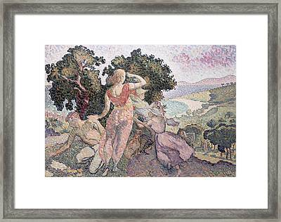 The Excursionists Framed Print by Henri-Edmond Cross