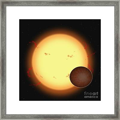 The Extrasolar Planet Hd 209458 B Framed Print by Ron Miller