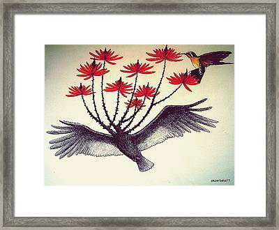 The Exultancy Of Life That Lives In The Small Flowers Framed Print by Paulo Zerbato