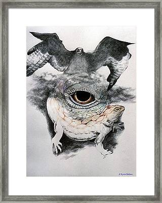 The Eye Of Power Framed Print by Kyra Belan