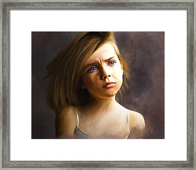 The Eyes Are The Windows Framed Print by Stacy Moore