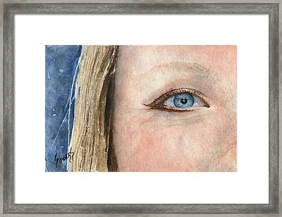 The Eyes Have It - Shannon Framed Print by Sam Sidders