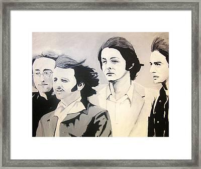 The Fab Four Framed Print by Rock Rivard