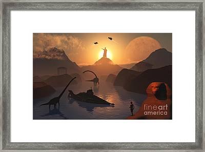 The Fabled City Of Atlantis Set Framed Print by Mark Stevenson