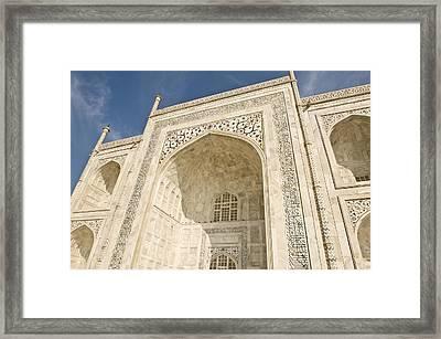 The Facade Of The Taj Mahal Framed Print by Lori Epstein