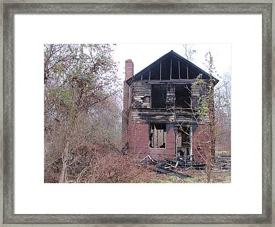 The Face Of The Broken Heart Framed Print by Valia Bradshaw