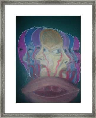 The Faces Of Depression Framed Print by Cathy Snowbeck