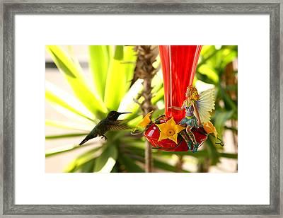 The Faeries Nectar Framed Print by Lon Casler Bixby