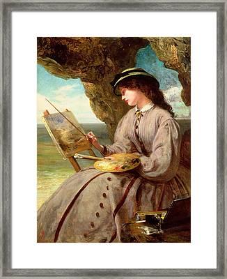 The Fair Amateur Framed Print by Abraham Solomon