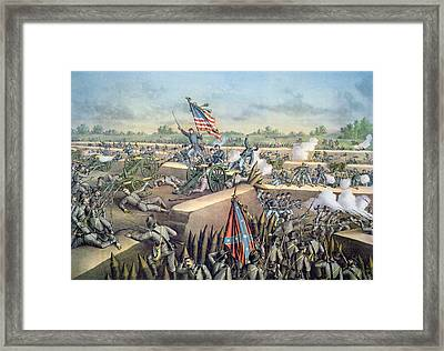 The Fall Of Petersburg To The Union Army 2nd April 1965 Framed Print by American School