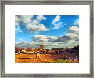 The Farm Framed Print by Odon Czintos