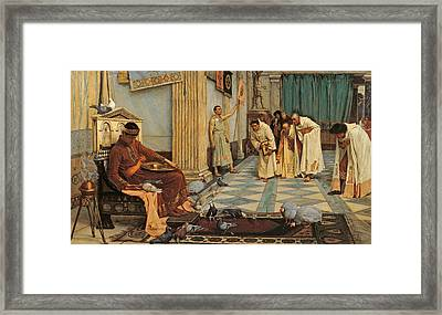 The Favourites Of Emperor Honorius Framed Print by John William Waterhouse