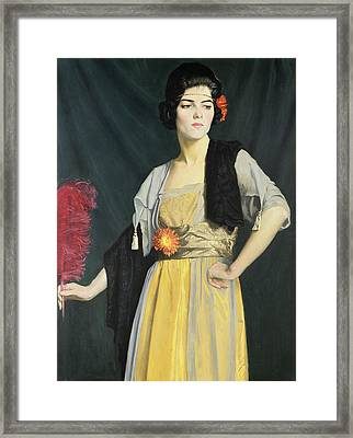 The Feather Fan  Framed Print by William Strang