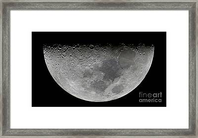 The Feature Known As Lunar-x Visible Framed Print by Luis Argerich