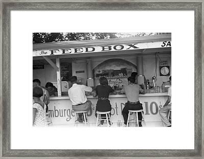 The Feed Box, Scene At Buckeye Lake Framed Print by Everett