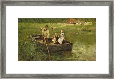 The Ferry Framed Print by Edward Stott