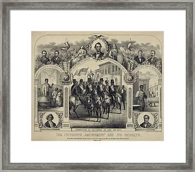 The Fifteenth Amendment Banning Voting Framed Print by Everett