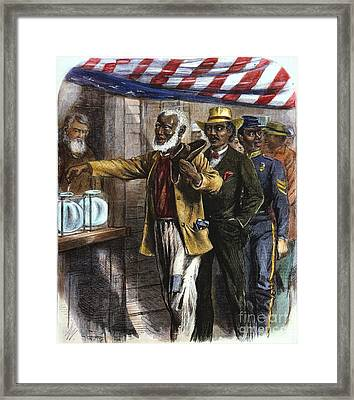 The First Vote, 1867 Framed Print by Granger
