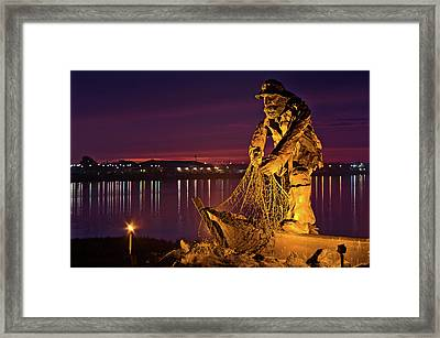 The Fisherman Framed Print by Greg Nyquist