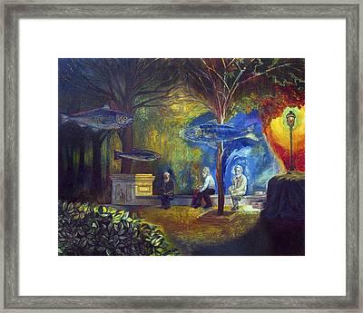 The Fisherman Of Memories Framed Print by Fernando Alvarez