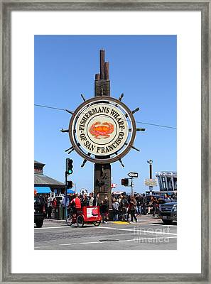 The Fishermans Wharf Sign . San Francisco California . 7d14225 Framed Print by Wingsdomain Art and Photography