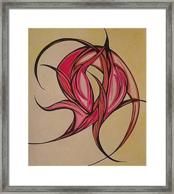 The Flip Framed Print by Tara Francoise