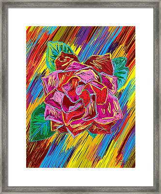 The Flower Of Life Framed Print by Kenal Louis