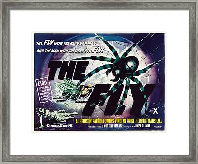 The Fly, David Hedison Aka Al Hedison Framed Print by Everett