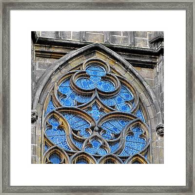 The Folly Of Windows In Prague Framed Print by Christine Till