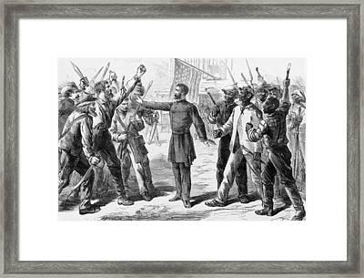 The Freedmens Bureau Was Established Framed Print by Everett