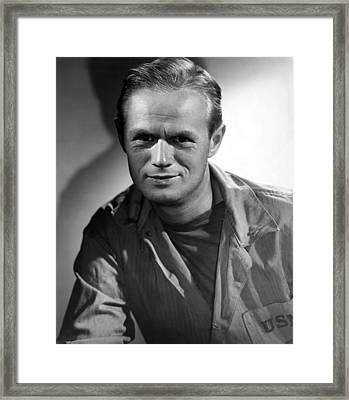 The Frogmen, Richard Widmark, 1951 Framed Print by Everett