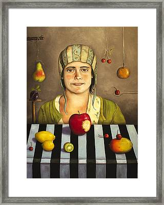 The Fruit Collector 2 Framed Print by Leah Saulnier The Painting Maniac