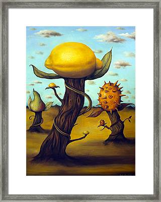 The Fruit Orchard Framed Print by Leah Saulnier The Painting Maniac