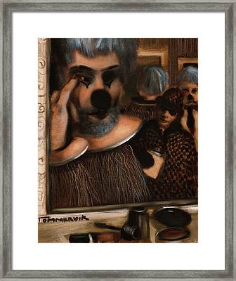 The Funny Business  Framed Print by Tommervik