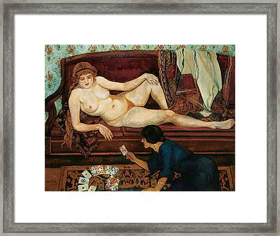 The Future Unveiled Framed Print by Suzanne Valadon