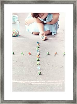 The Game Framed Print by Stephanie Frey