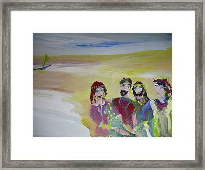 The Gang Framed Print by Judith Desrosiers